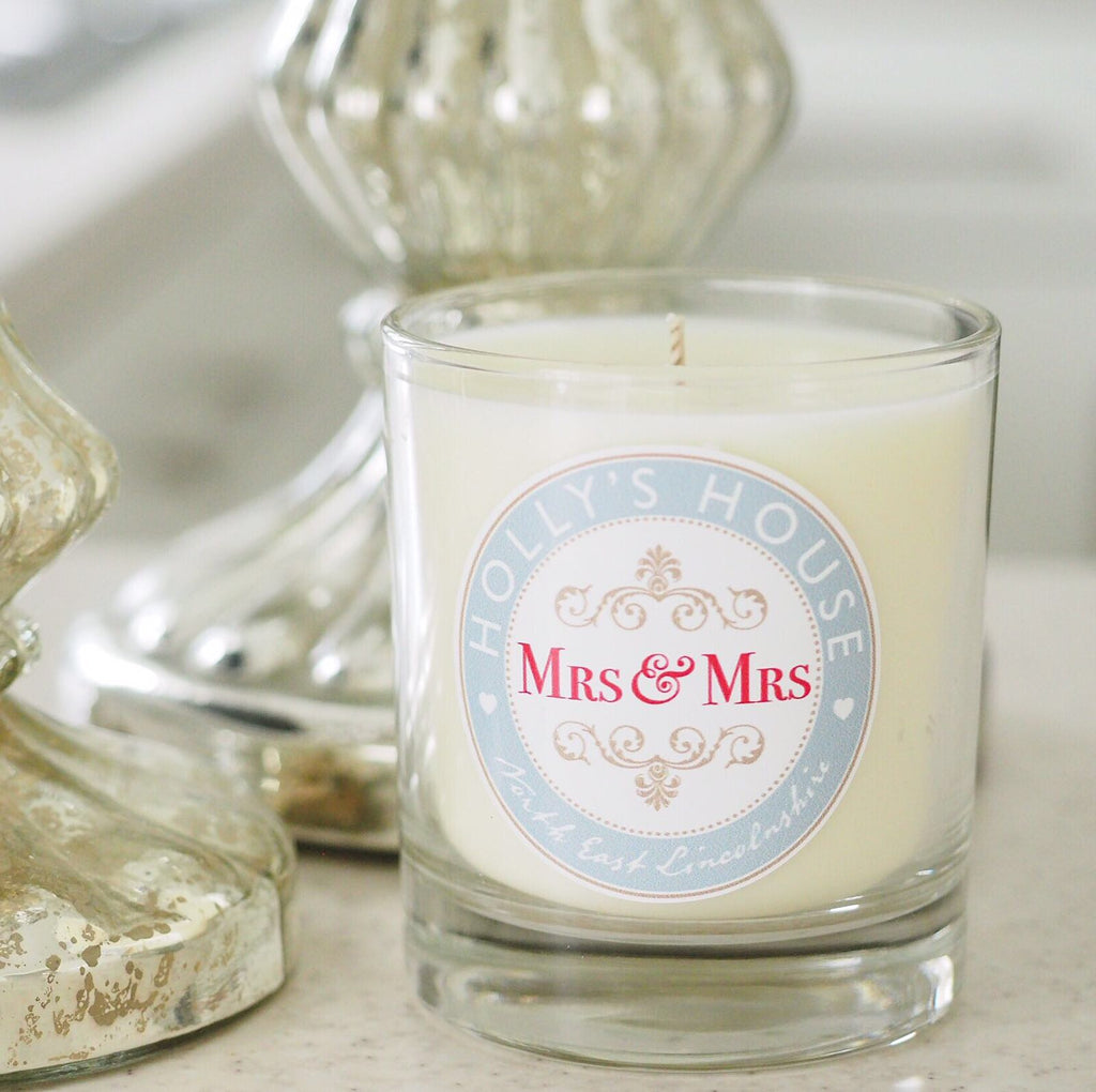 Mrs & Mrs Scented Candle