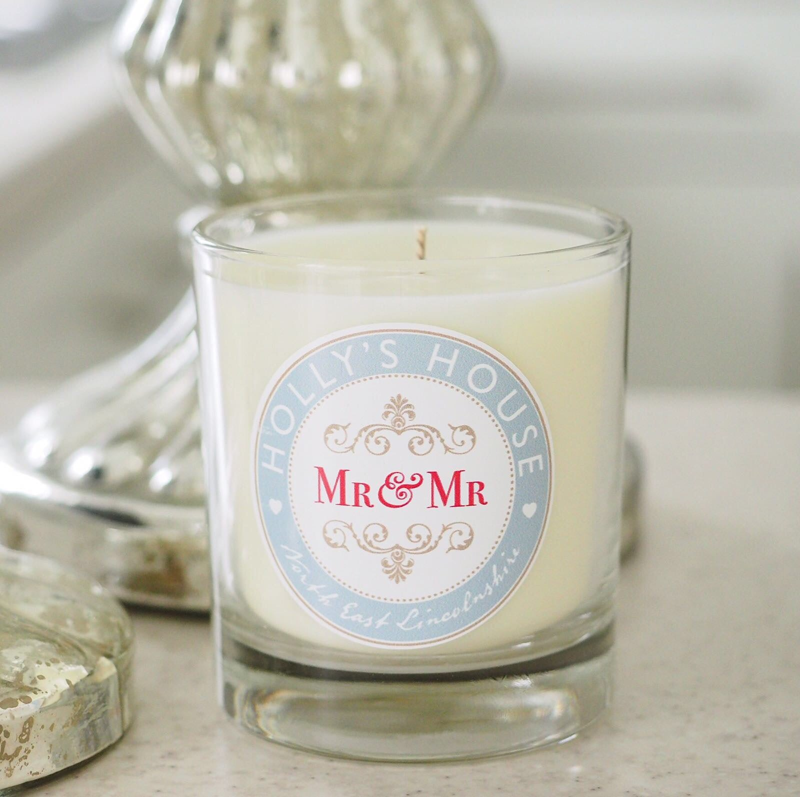 Mr & Mr Scented Candle – Holly\'s House UK