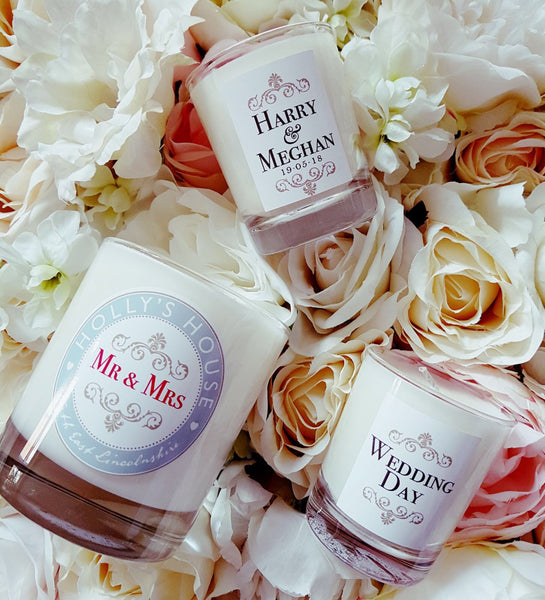 x20 Personalised Mini 'Wedding Favour' Luxury Candles