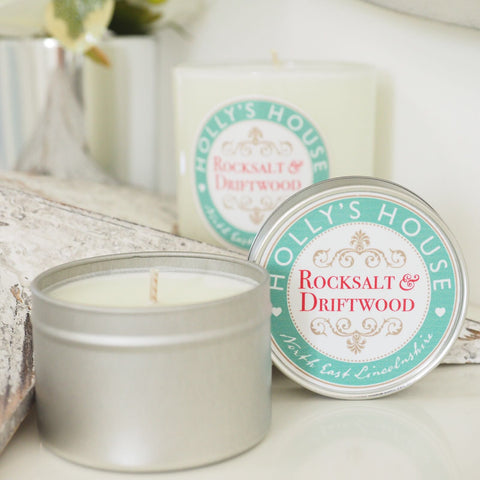 Rocksalt & Driftwood 100ml Candle Tin