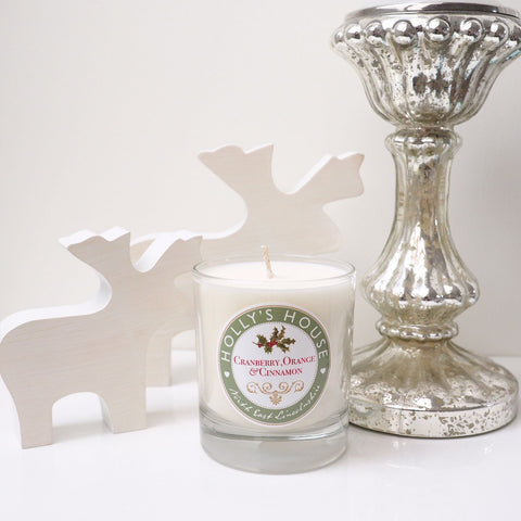 Cranberry, Orange & Cinnamon Luxury Scented Candle