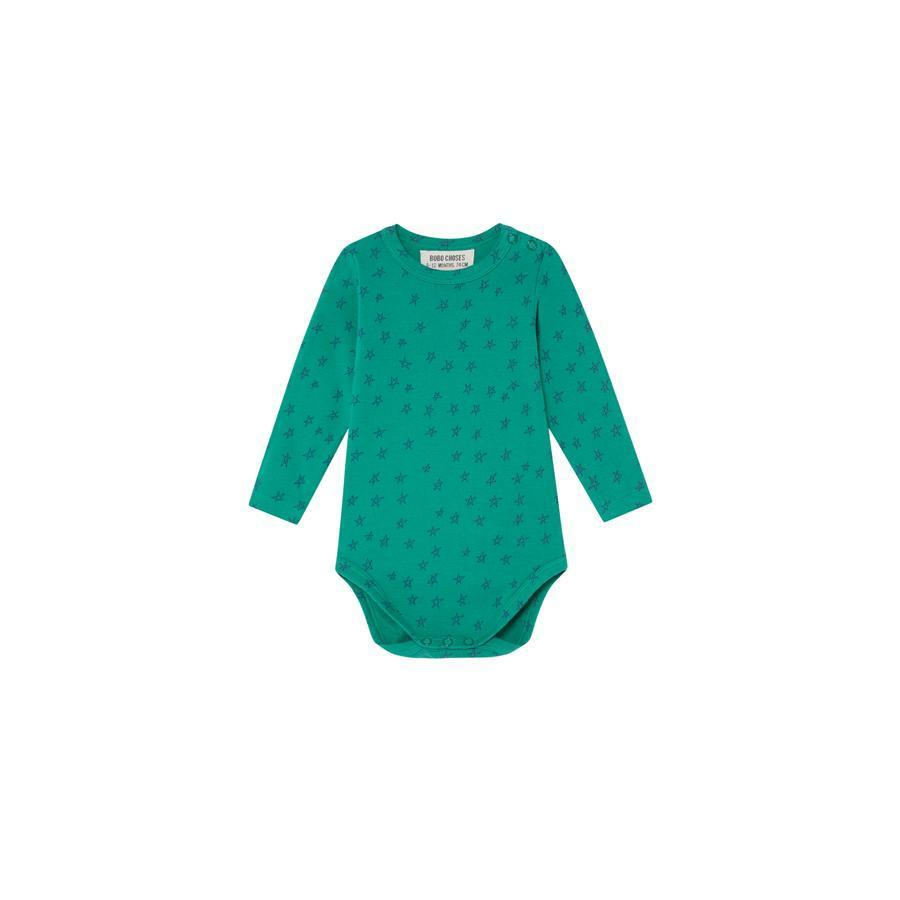 "Long Sleeve Body ""Allover Stars Green"""