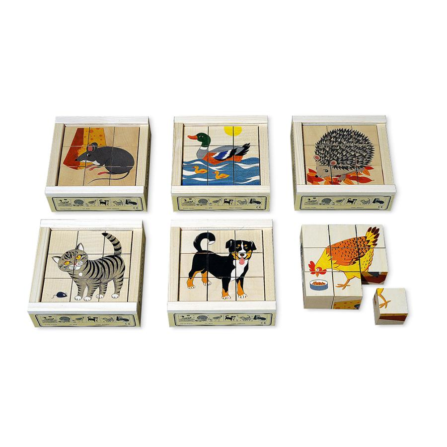 "Cube Puzzle ""Domestic animals"" - 9-parts"
