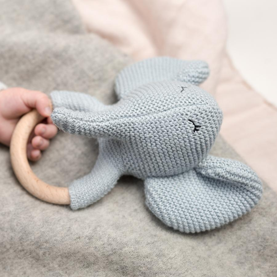 "Teether with Rattle ""Elvy the Elephant"""