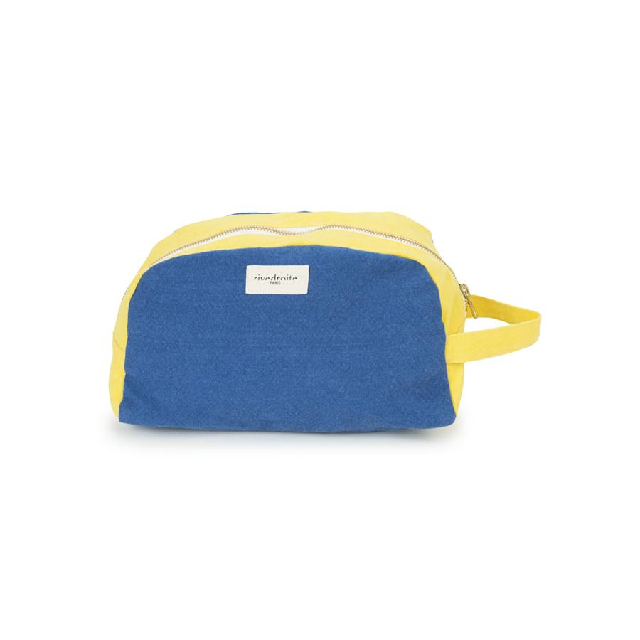 "Beauty Purse ""Hermel Blue Indigo / Jaune Citrone"""