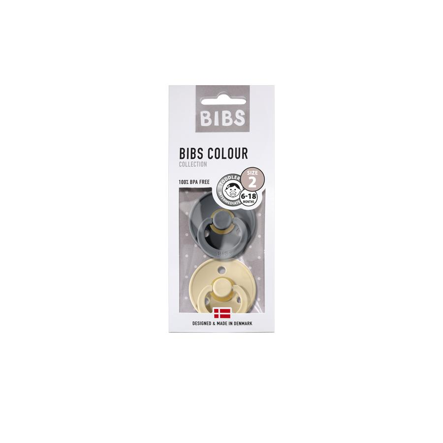 "Pacifier ""Iron / Beige"" 2er Pack"