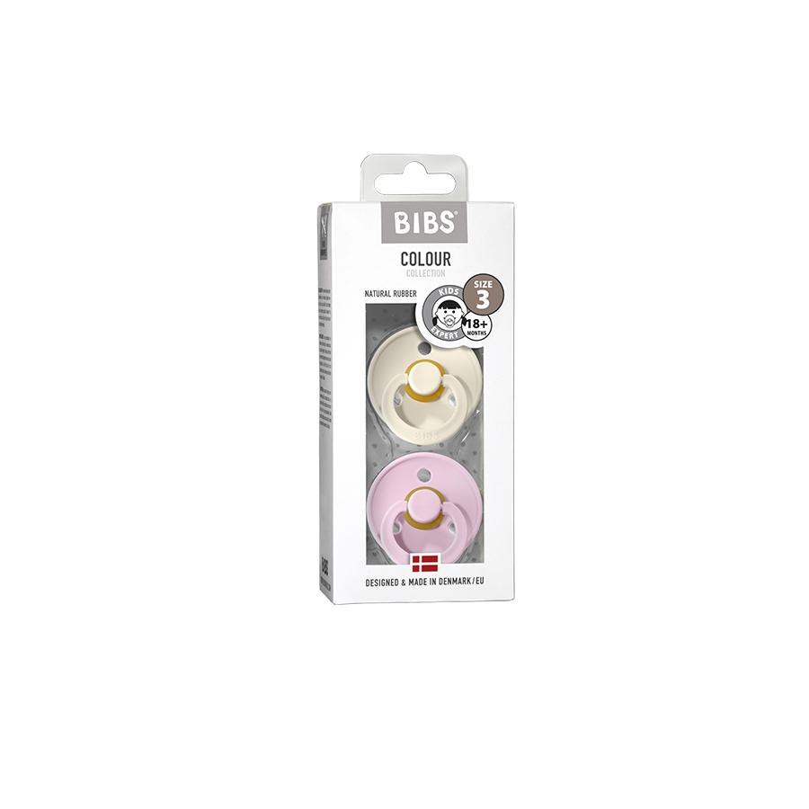 "Pacifier ""Ivory / Baby Pink"" Pack of 2"