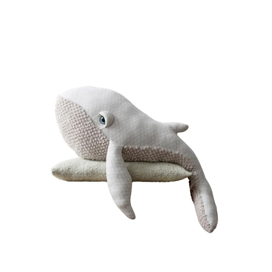 "Cushion Animal ""Big Albino Whale"""