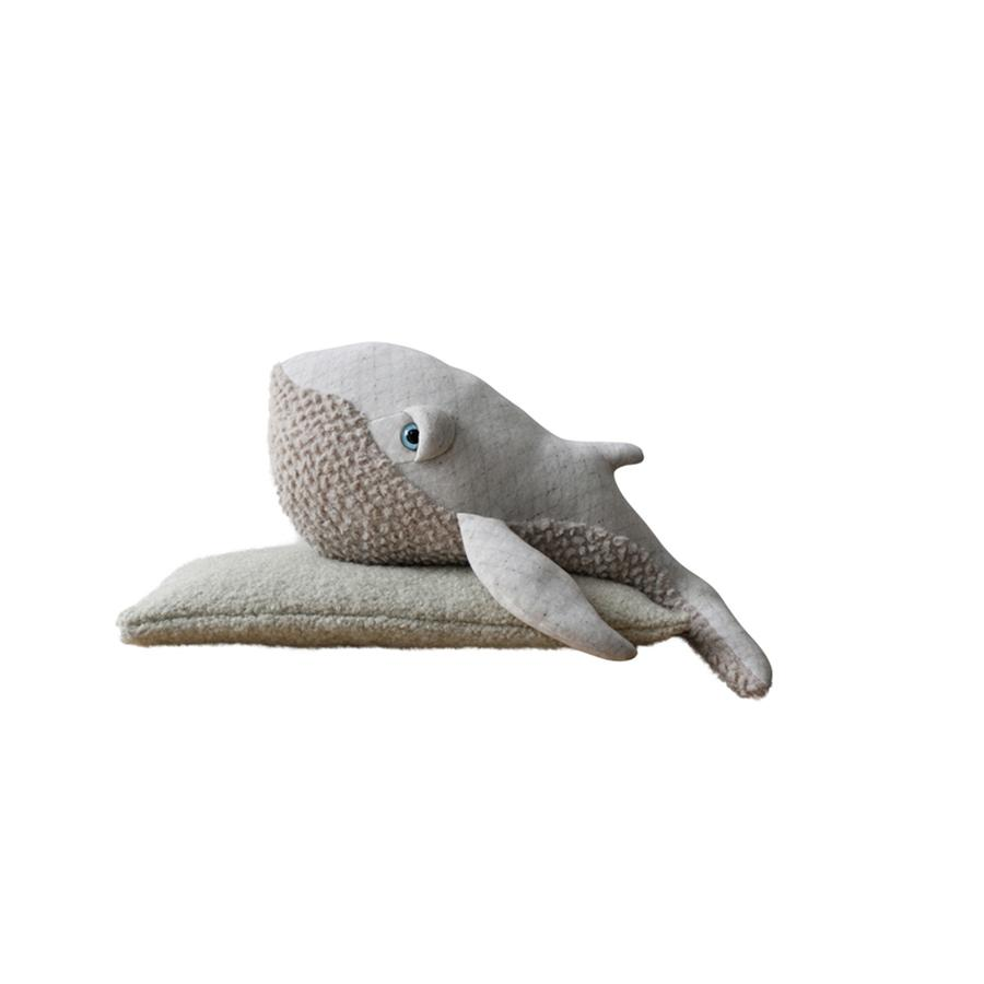 "Cushion Animal ""Small Albino Whale"""
