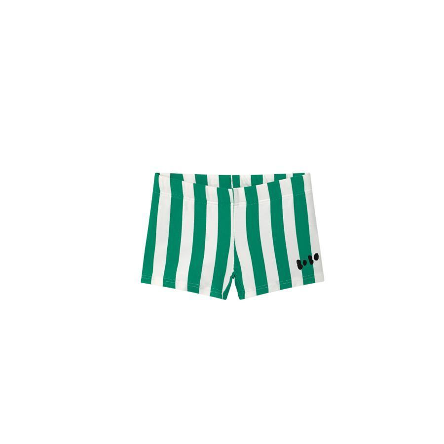"Swimming Shorts ""Green Striped Turtledove"""