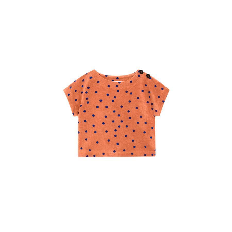 "Short Sleeve Sweatshirt ""Dots Terry"""