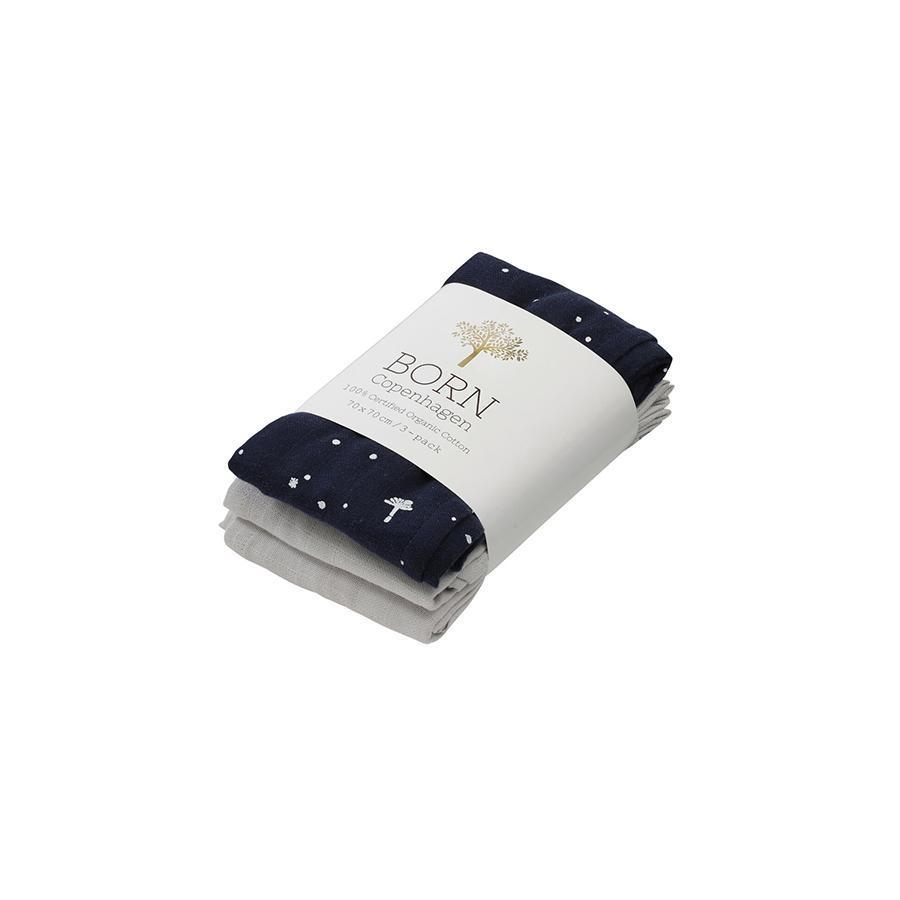 "Muslin Cloth ""Night Sky"" 3er Pack"
