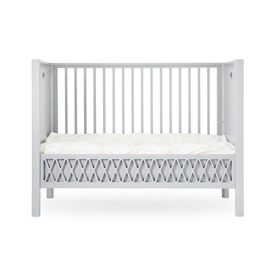 "Baby Bed ""Harlequin Grey"" with closed ends"