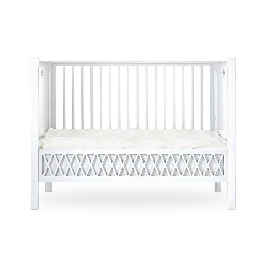 "Baby Bed ""Harlequin White"" with closed ends"
