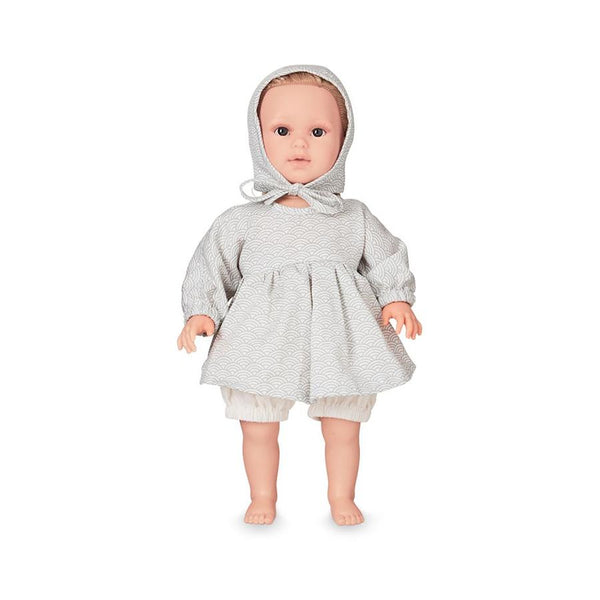 "Doll Cloths Set ""Grey Wave"""