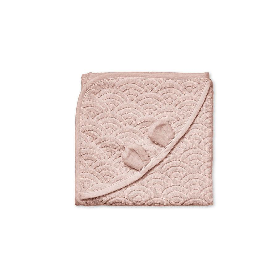 "Hooded towel ""Baby Dusty Rose"""