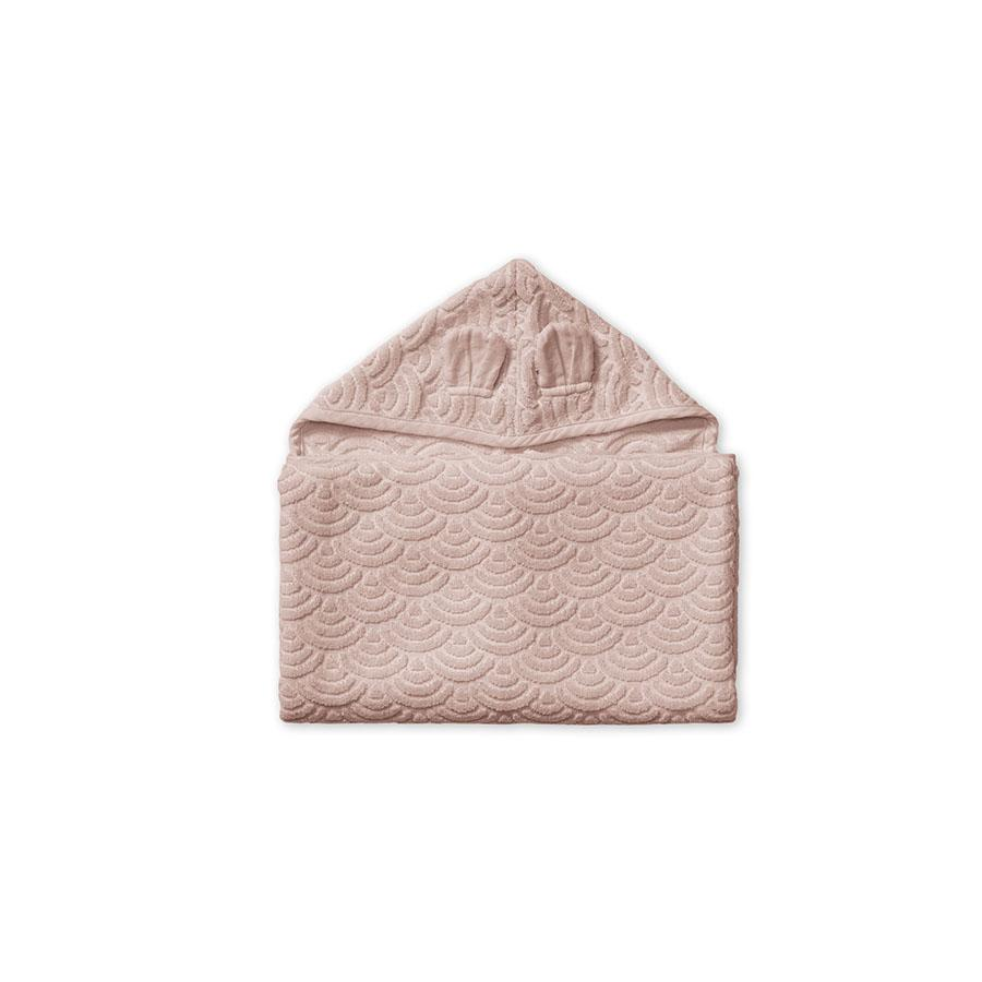 "Hooded towel ""Junior Dusty Rose"""