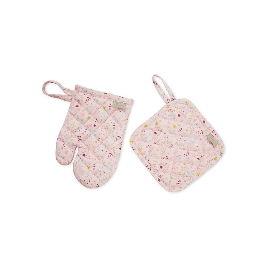"Play Set Oven Glove & Potholder ""Fleur"""