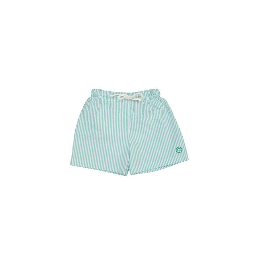 "Swimming Shorts ""Biarritz Seersucker Aqua"""
