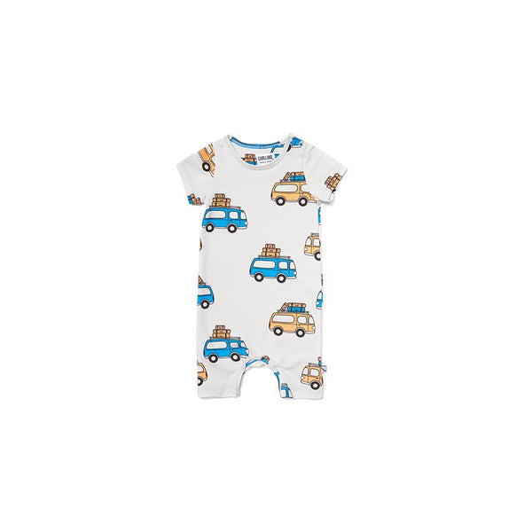 "Short-Sleeved Bodysuit ""Road Trippin'"""