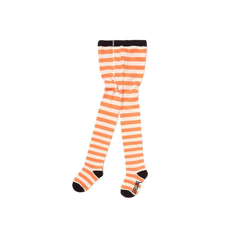 "Tights ""Stripes Peach / Offwhite"""
