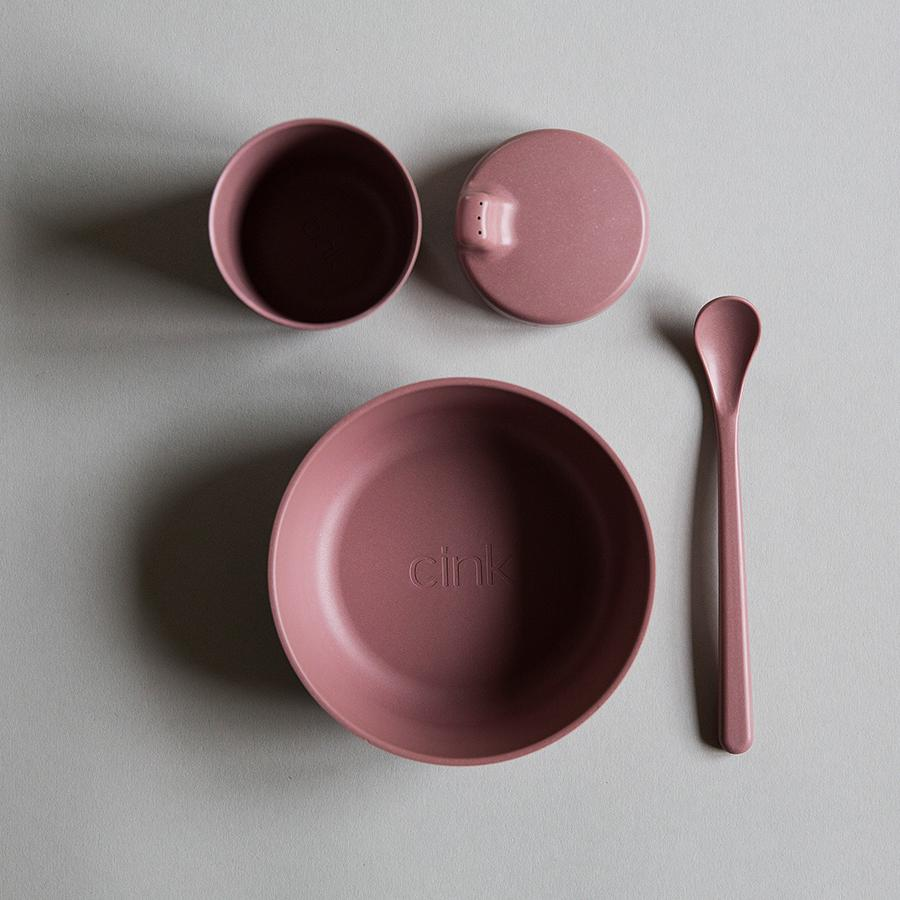 "Bamboo Tableware Set ""Beet"" for Babies"
