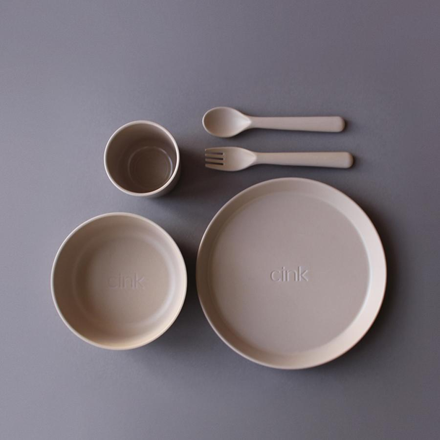 "Bamboo Tableware Set ""Fog"" for Toddlers"
