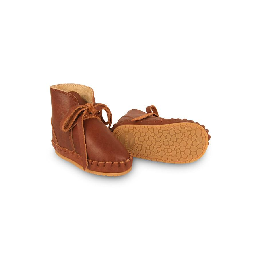 "Baby Shoes ""Pina Lining Cognac Classic Leather"""