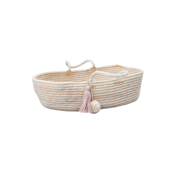 "Doll Basket ""Rope Mauve"""