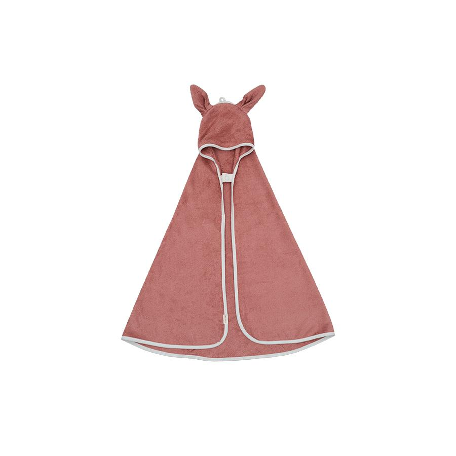 "Hooded Baby Towel ""Bunny Clay"""