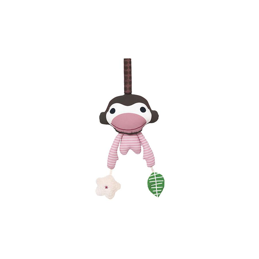"Baby Gym Mobile ""Asger Monkey Pink"""