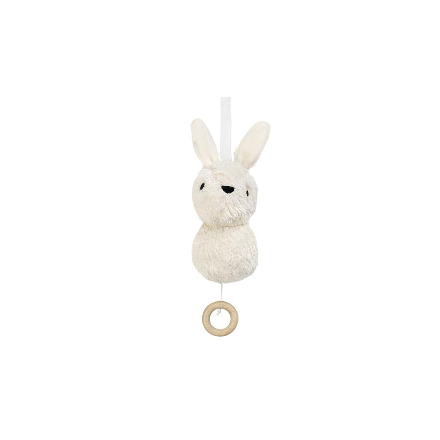 "Baby-Mobile ""Aura Rabbit Offwhite"" with Music"