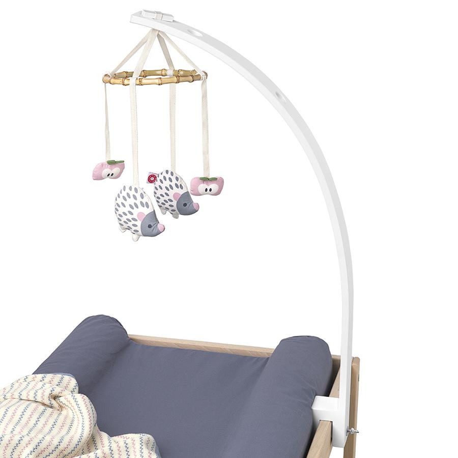 "Baby Mobile Holder ""White"" for changing table"