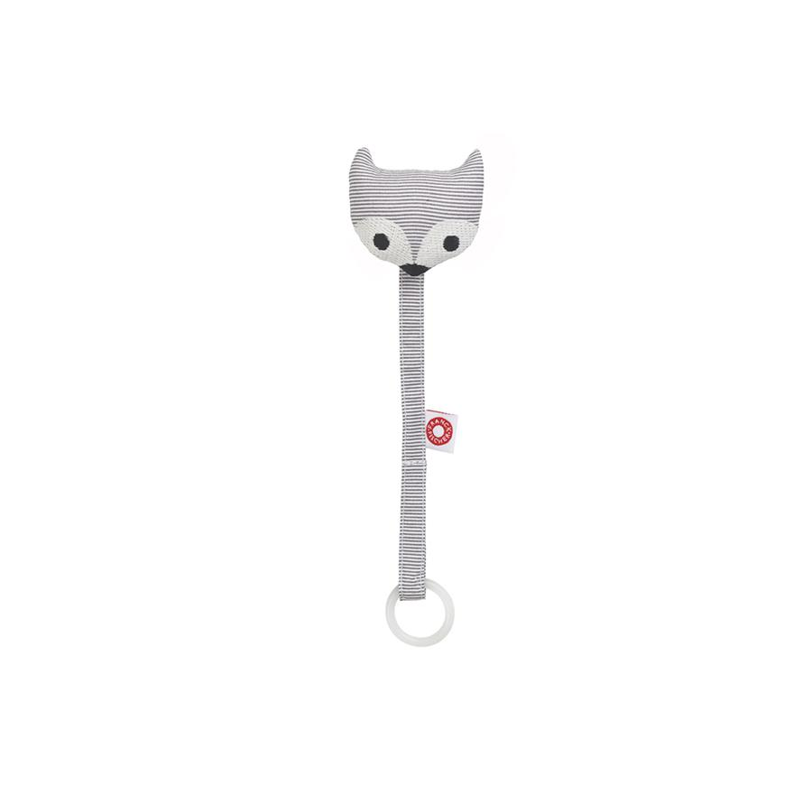 "Pacifier Holder ""Ring Fox Grey"""