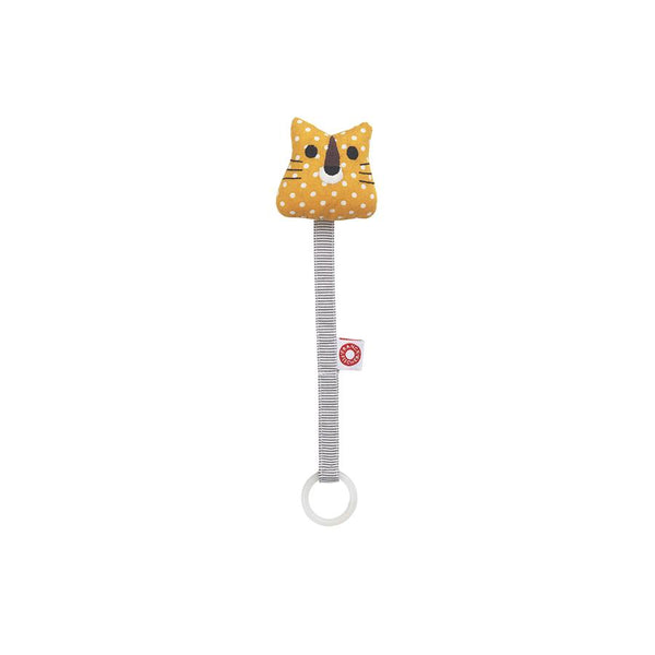 "Pacifier Holder ""Ring Tiger Yellow"""