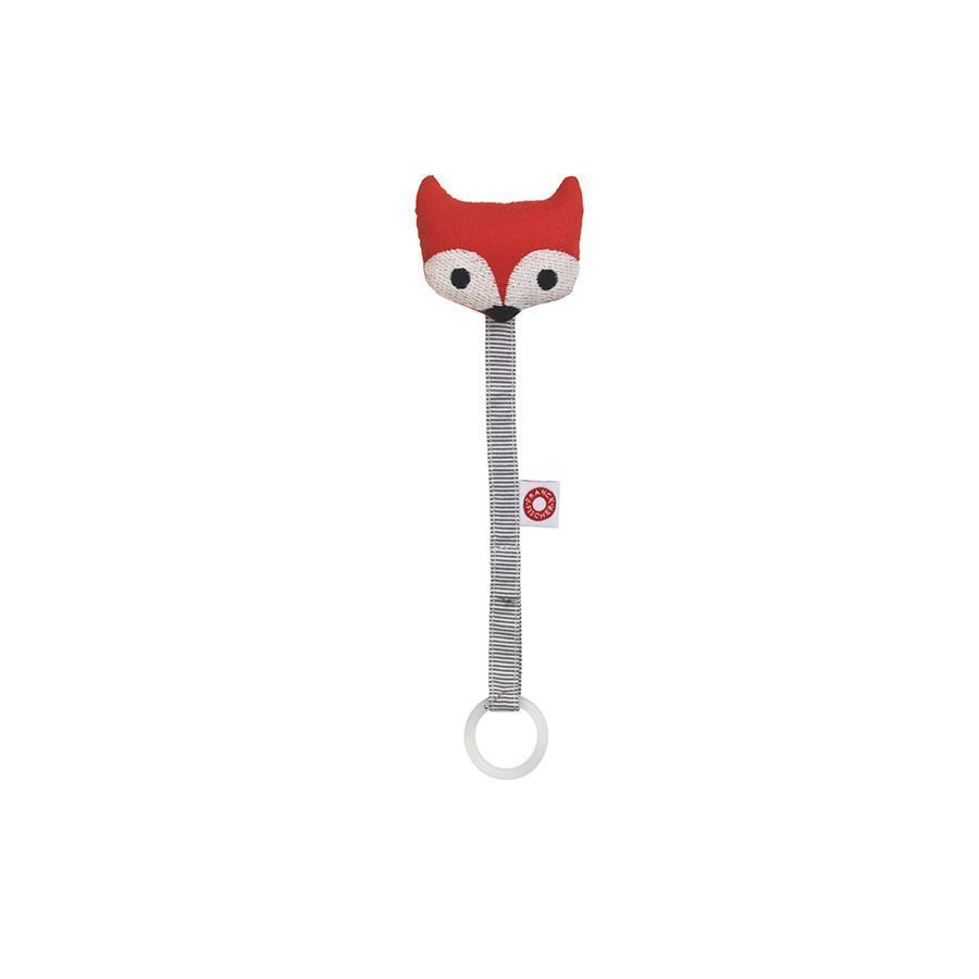 "Pacifier Holder ""Ring Fox Red"""
