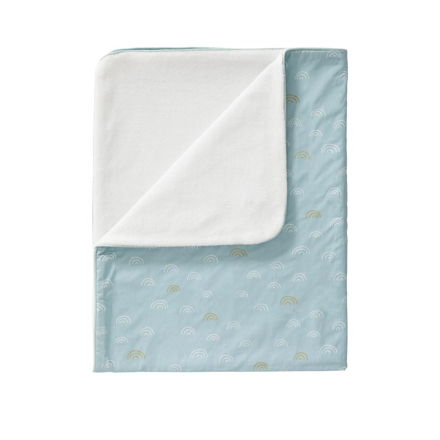 "Baby Bed Blanket ""Rainbow Ether Blue"""