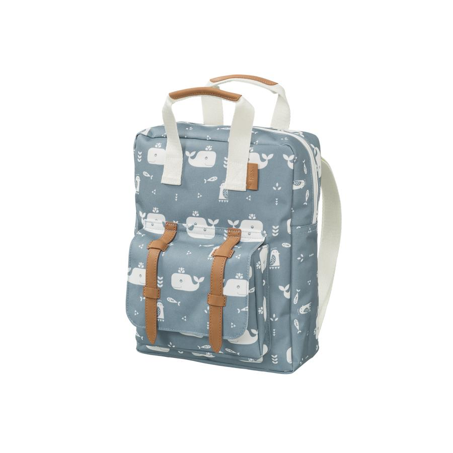 "Kids Backpack ""Whale Blue Fog"""