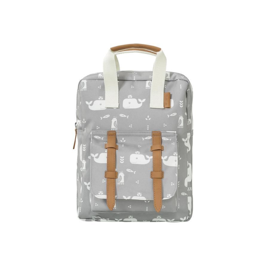 "Kids Backpack ""Whale Dawn Gray"""