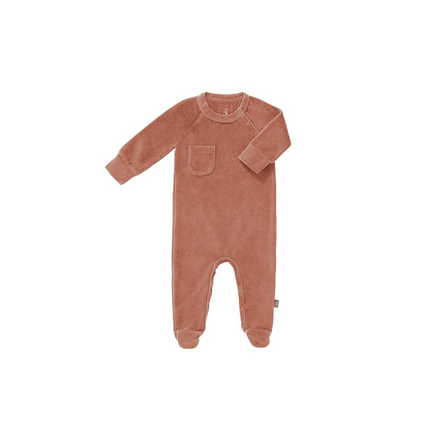 "Romper ""Velours Ash Rose"" with Feet"