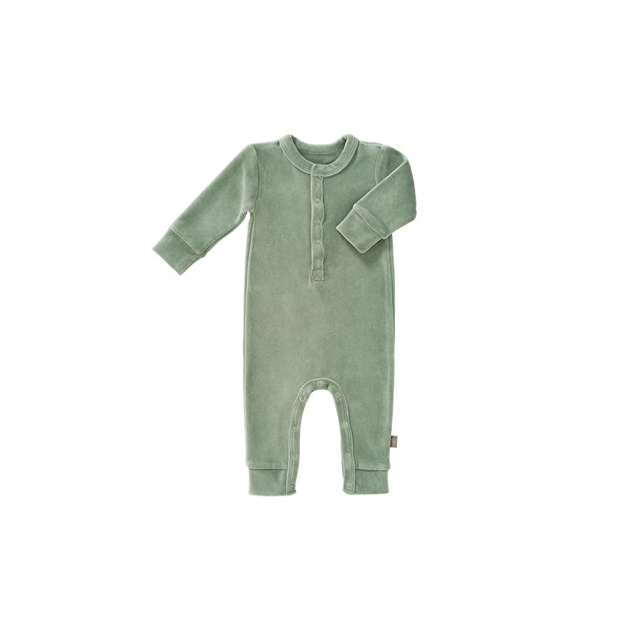 "Romper ""Velours Forest Green"""