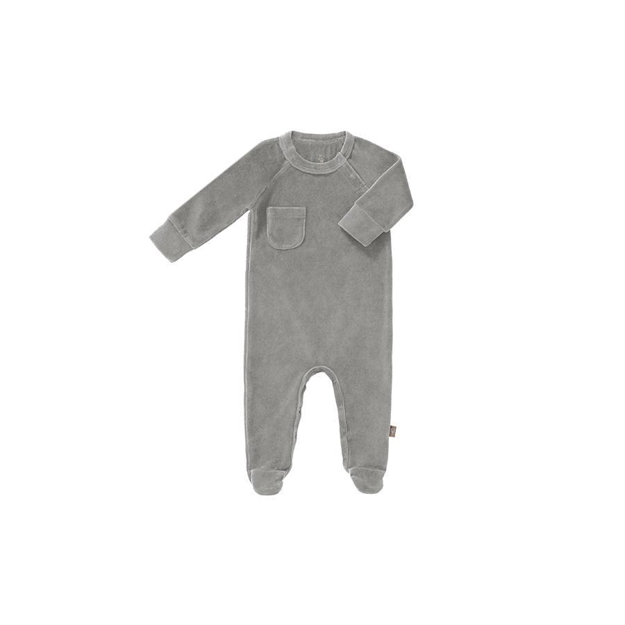 "Romper ""Velours Paloma Grey"" with Feet"