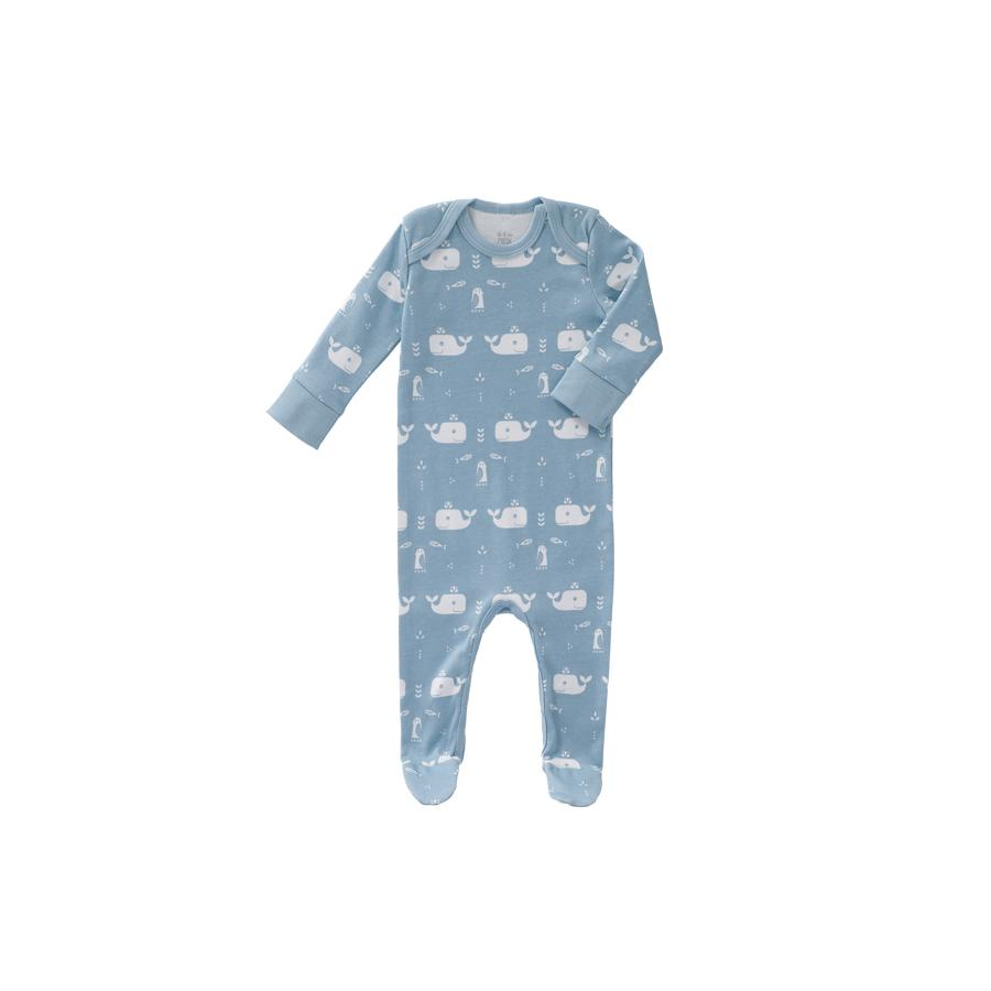 "Romper ""Whale Blue Fog"" with Closed Feet"
