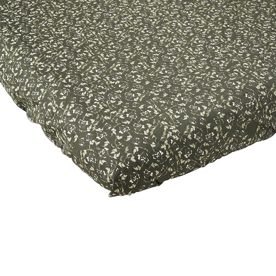 "Fitted Sheet ""Floral Moss"""