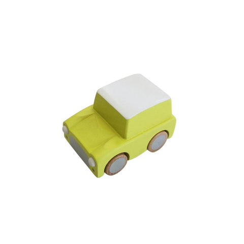 "Wooden Car ""Kuruma Yellow"""