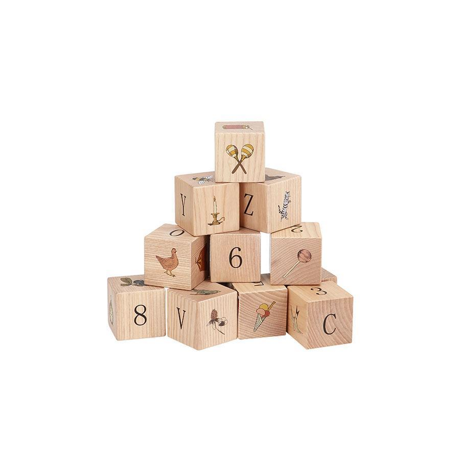 Wooden Blocks with Symbols