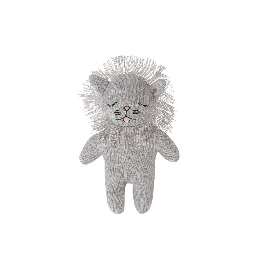 "Baby Rattle ""Mini Lion Grey Melange"""