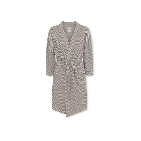 "Muslin Bathrobe ""Mommy Robe Kaya Navy Stripes"""