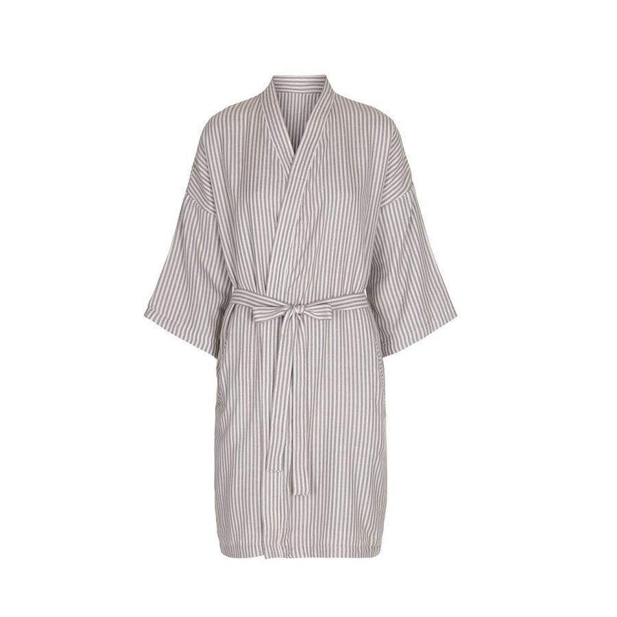 "Muslin Bathrobe ""Mommy Robe Striped"""