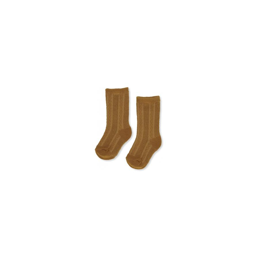 "Socks ""Fuma Pointelle Dark Honey"""